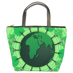Earth Forest Forestry Lush Green Bucket Bags by BangZart