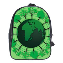 Earth Forest Forestry Lush Green School Bag (large) by BangZart