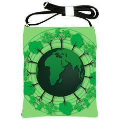 Earth Forest Forestry Lush Green Shoulder Sling Bags by BangZart