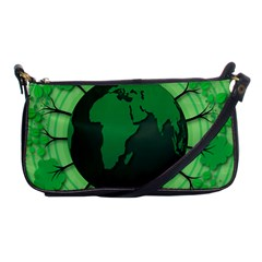 Earth Forest Forestry Lush Green Shoulder Clutch Bags by BangZart