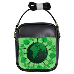Earth Forest Forestry Lush Green Girls Sling Bags by BangZart