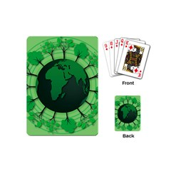 Earth Forest Forestry Lush Green Playing Cards (mini)