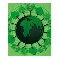Earth Forest Forestry Lush Green Shower Curtain 60  X 72  (medium)