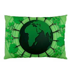 Earth Forest Forestry Lush Green Pillow Case (two Sides)