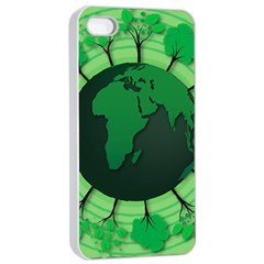 Earth Forest Forestry Lush Green Apple Iphone 4/4s Seamless Case (white) by BangZart