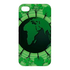 Earth Forest Forestry Lush Green Apple Iphone 4/4s Premium Hardshell Case by BangZart