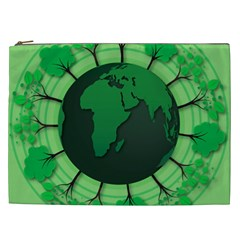 Earth Forest Forestry Lush Green Cosmetic Bag (xxl)  by BangZart