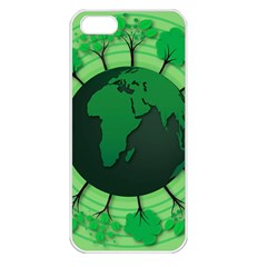 Earth Forest Forestry Lush Green Apple Iphone 5 Seamless Case (white) by BangZart