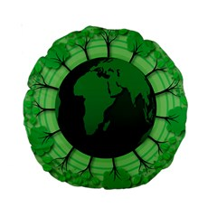 Earth Forest Forestry Lush Green Standard 15  Premium Round Cushions
