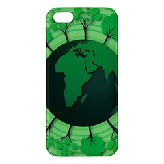 Earth Forest Forestry Lush Green Apple Iphone 5 Premium Hardshell Case by BangZart