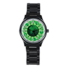 Earth Forest Forestry Lush Green Stainless Steel Round Watch by BangZart