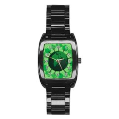 Earth Forest Forestry Lush Green Stainless Steel Barrel Watch by BangZart