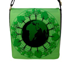 Earth Forest Forestry Lush Green Flap Messenger Bag (l)  by BangZart