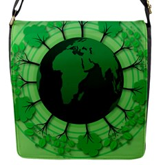 Earth Forest Forestry Lush Green Flap Messenger Bag (s) by BangZart
