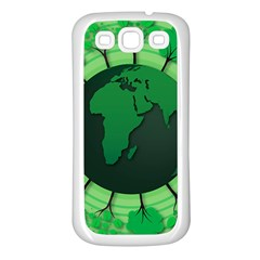 Earth Forest Forestry Lush Green Samsung Galaxy S3 Back Case (white)