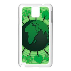 Earth Forest Forestry Lush Green Samsung Galaxy Note 3 N9005 Case (white) by BangZart