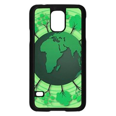 Earth Forest Forestry Lush Green Samsung Galaxy S5 Case (black) by BangZart