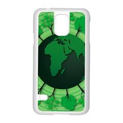 Earth Forest Forestry Lush Green Samsung Galaxy S5 Case (white) by BangZart