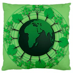 Earth Forest Forestry Lush Green Large Flano Cushion Case (one Side)