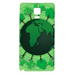 Earth Forest Forestry Lush Green Galaxy Note 4 Back Case by BangZart