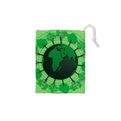 Earth Forest Forestry Lush Green Drawstring Pouches (xs)  by BangZart