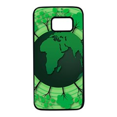 Earth Forest Forestry Lush Green Samsung Galaxy S7 Black Seamless Case by BangZart