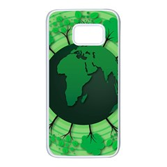 Earth Forest Forestry Lush Green Samsung Galaxy S7 White Seamless Case by BangZart