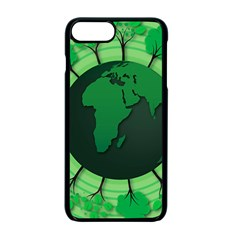 Earth Forest Forestry Lush Green Apple Iphone 7 Plus Seamless Case (black) by BangZart