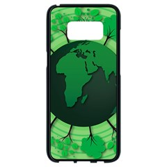 Earth Forest Forestry Lush Green Samsung Galaxy S8 Black Seamless Case by BangZart