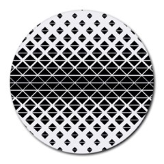 Triangle Pattern Background Round Mousepads