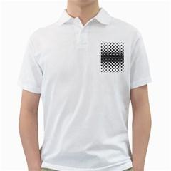 Triangle Pattern Background Golf Shirts