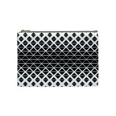 Triangle Pattern Background Cosmetic Bag (medium)