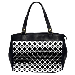Triangle Pattern Background Office Handbags (2 Sides)