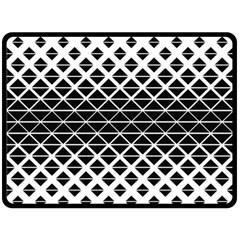 Triangle Pattern Background Fleece Blanket (large)