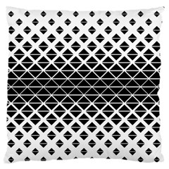 Triangle Pattern Background Standard Flano Cushion Case (two Sides)