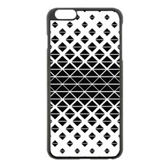 Triangle Pattern Background Apple Iphone 6 Plus/6s Plus Black Enamel Case by BangZart