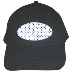Star Curved Background Blue Black Cap