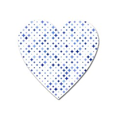 Star Curved Background Blue Heart Magnet