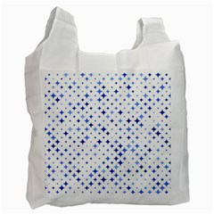 Star Curved Background Blue Recycle Bag (one Side)