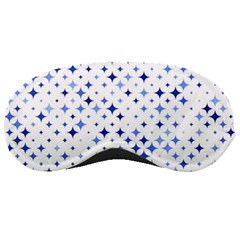 Star Curved Background Blue Sleeping Masks