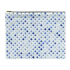 Star Curved Background Blue Cosmetic Bag (xl)