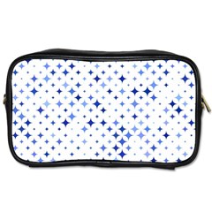Star Curved Background Blue Toiletries Bags