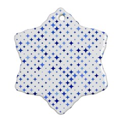 Star Curved Background Blue Ornament (snowflake)