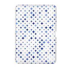Star Curved Background Blue Samsung Galaxy Tab 2 (10 1 ) P5100 Hardshell Case