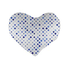 Star Curved Background Blue Standard 16  Premium Flano Heart Shape Cushions by BangZart