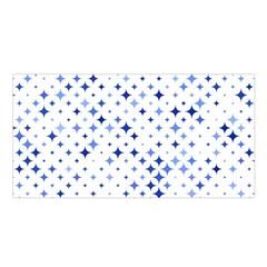 Star Curved Background Blue Satin Shawl