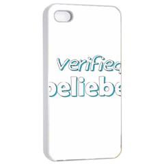 Verified Belieber Apple Iphone 4/4s Seamless Case (white) by Valentinaart
