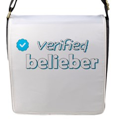 Verified Belieber Flap Messenger Bag (s) by Valentinaart