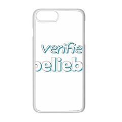 Verified Belieber Apple Iphone 8 Plus Seamless Case (white) by Valentinaart