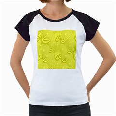 Yellow Oval Ellipse Egg Elliptical Women s Cap Sleeve T